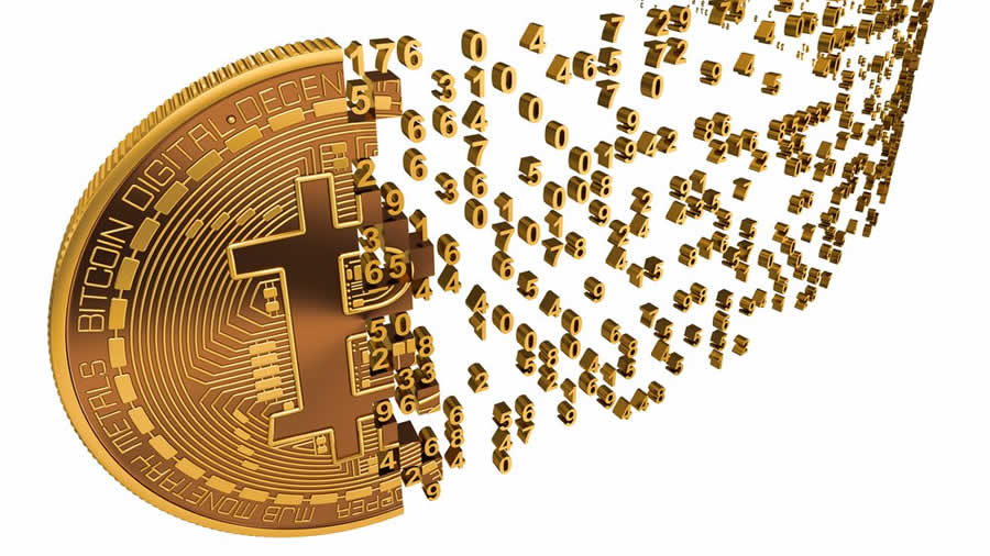 Bitcoin Pixel Dissolve